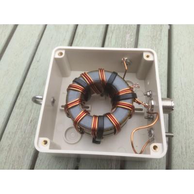 9:1 impedance transformer UNUN  2 Kw PEP